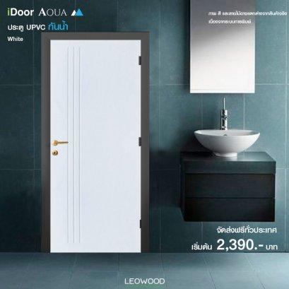 iDoor Aqua UPVC เซาะร่อง สี White