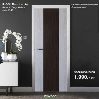 ประตูไม้เมลามีน iDoor S1 สี Tango - Walnut ขนาด 3.5x80x200 ซม.