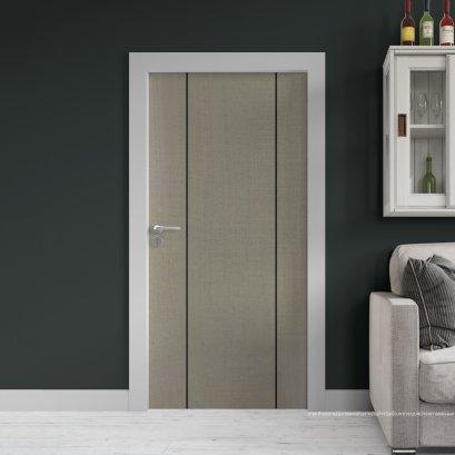 ประตูไม้เมลามีน สี Silver Series6 ลาย02 แบบเซาะร่อง