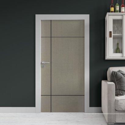 ประตูไม้เมลามีน สี Silver Series6 ลาย04 แบบเซาะร่อง