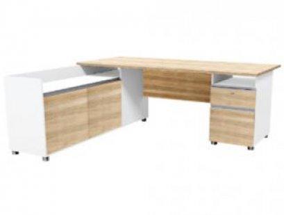 โต๊ะทำงานพร้อมตู้แอล