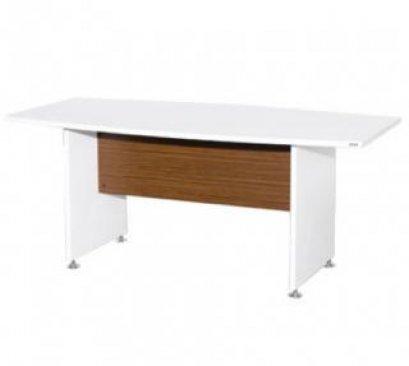 โต๊ะประชุมไม้ทรงเรือขาไม้