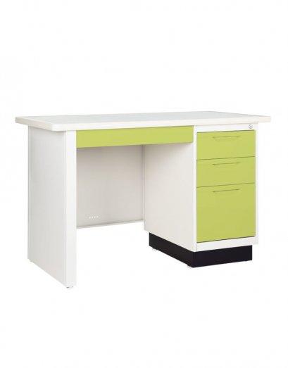 โต๊ะเหล็กหน้าเหล็ก 3 ลิ้นชัก