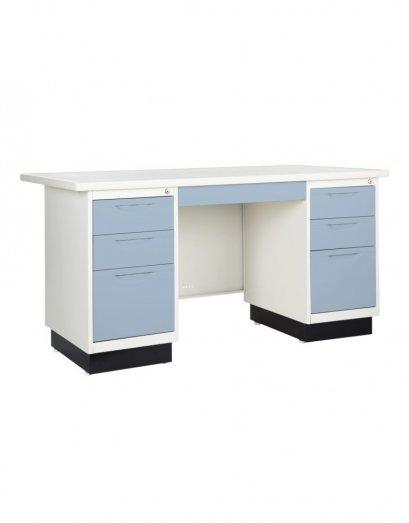 โต๊ะเหล็กหน้าเหล็ก 7 ลิ้นชัก