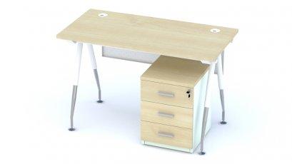 A-100 โต๊ะทำงานขาเหล็ก