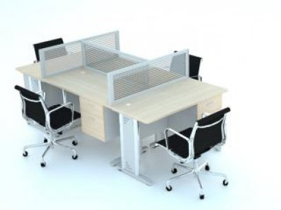 โต๊ะทำงานกลุ่ม 4 ที่นั่ง