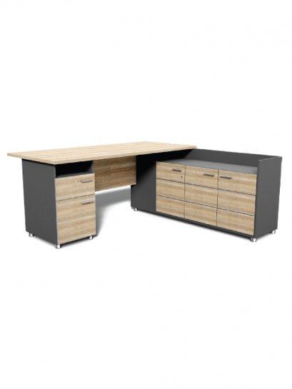 โต๊ะทำงานตัวแอลตู้ขวา