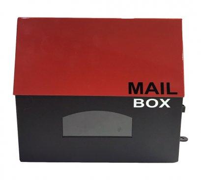 ตู้จดหมาย Two Tone Mini สีแดง-ดำ