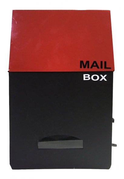 ตู้จดหมาย Two Tone Tower สีแดง-ดำ