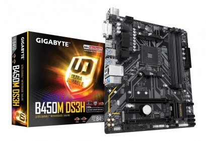 M/B Gigabyte B450M DS3H (AM4) :3Y