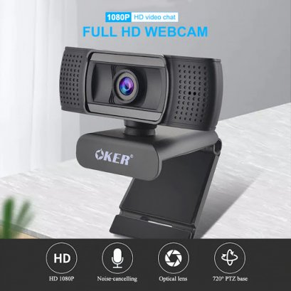 Webcam OKER Full HD 1080P (A229): 1Y