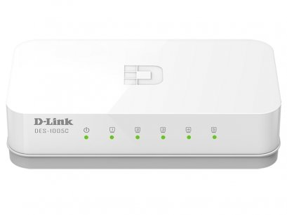 Switch D-Link 5 port 10/100 Mbps (DES-1005A/DES-1005C) : LT