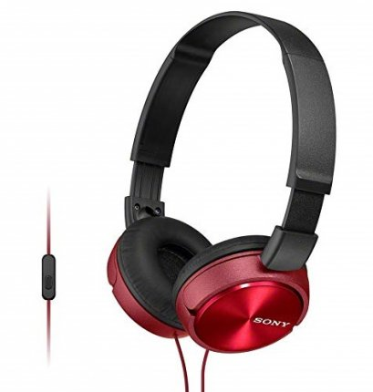 SONY Headphone MDR-ZX310AP/RC Red