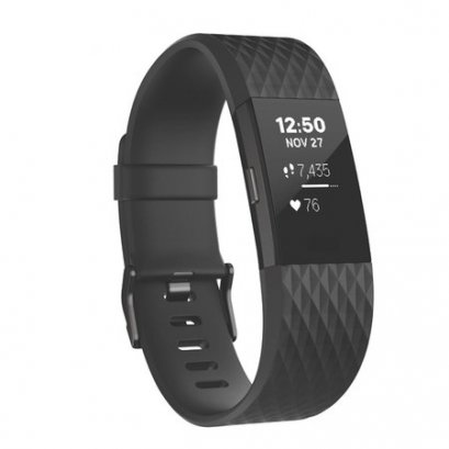 FitBit :Charge2 Black Gunmetal Small
