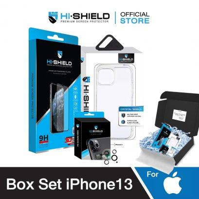 [Pre-order] HI-SHIELD Box Set iPhone13  Tempered Glass,Camera Lens,Cas iPhone13 Series