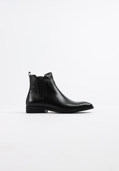 CHELSEA LEATHER ANKLE BOOTS genuine leather slipon boot with elastic MAC and GILL
