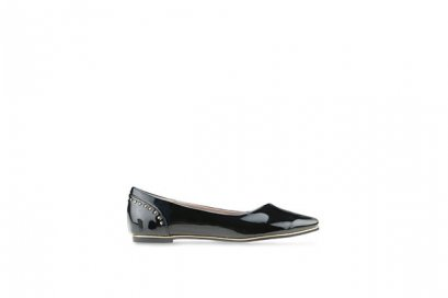 Fallon Pointed Flats - Black