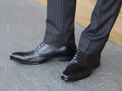 Formal OXFORD Business Lace Shoes in Black genuine Leather