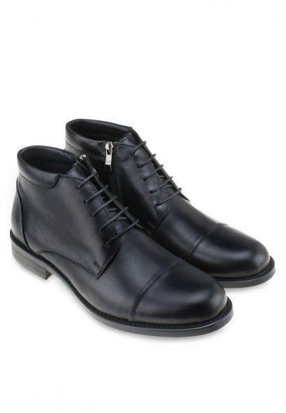 รองเท้าผู้ชายหนังแท้แบบบูทผูกเชือกทางการ Formal Lace Boot in original Leather 100%