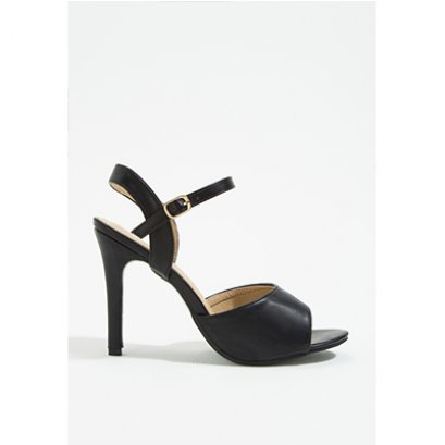 Mac & Gill Corlina Ankle Strap Heel Sandals in BLACK
