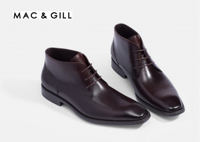 CHUKKA LEATHER ANKLE BOOTS Brown MAC&GILL