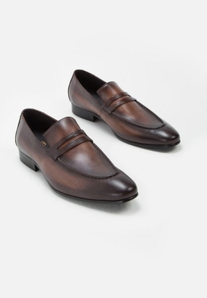 FELIPE LEATHER PENNY LOAFERS