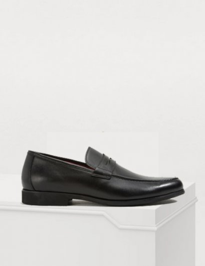Taylor Loafers in Genuine Grained soft Leather MAC & GILL SHOES