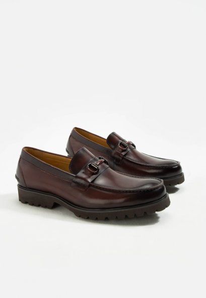 BRIXTON PATINA LEATHER LOAFER