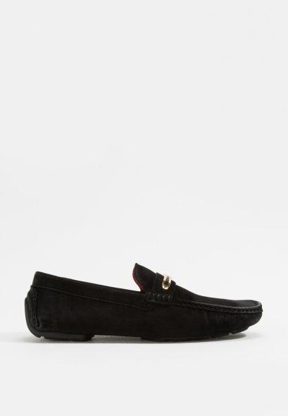 รองเท้าผู้ชายหนังแท้โลฟเฟอร์สีดำ HOWARD LEATHER LOAFER
