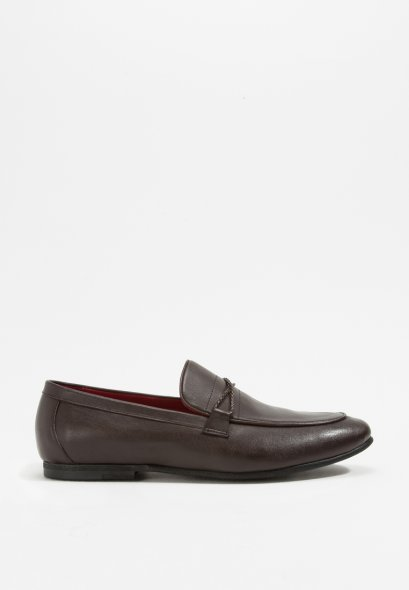 Barnes Braided Band Loafers in Genuine Leather