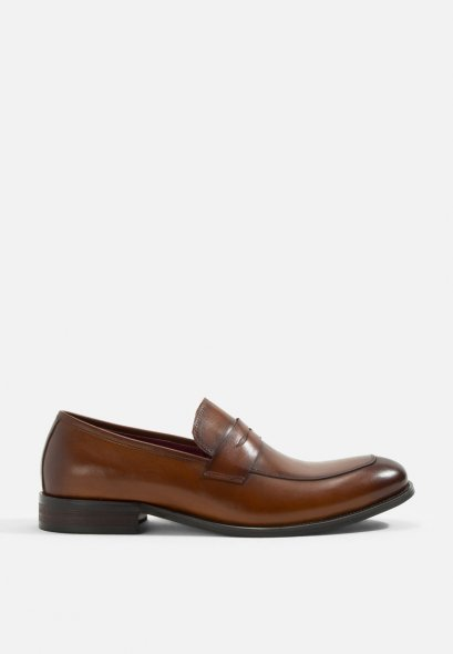 Classic Felipe Leather Penny Loafer Shoes Mac & Gill