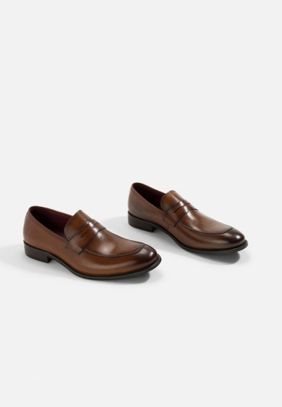 Classic Felipe Leather Penny Loafer Shoes GOODYEAR WELT