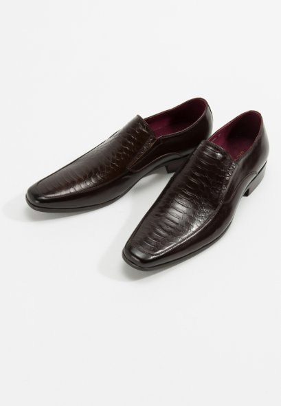 LEATHER LOAFERS SHOES SMUEL