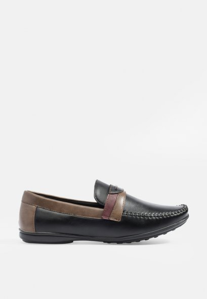 Two-Tone Tabs Loafers Moccasin Driving Shoes