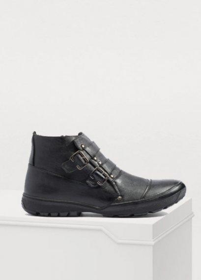 รองเท้าบู๊ทหนังแท้สีดำ รองเท้าผู้ชาย