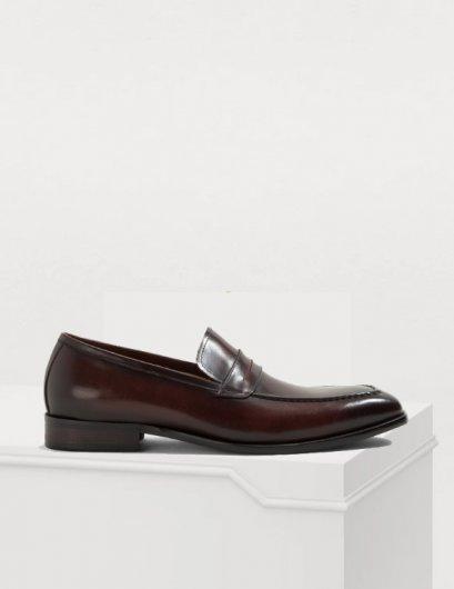 รองเท้าผู้ชายหนังแท้โลฟเฟอร์สีดำ BARNEY แบบทางการและออกงานหรู