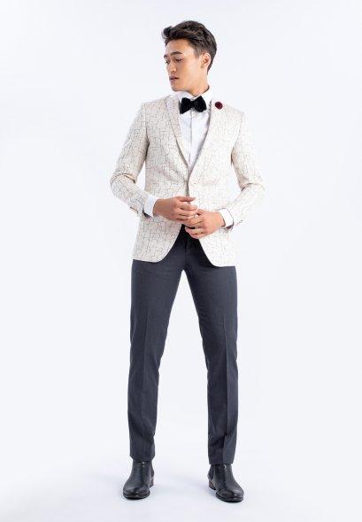 SLIMFIT CUT Marble VELVET Suit  Mac & Gill Classic Style