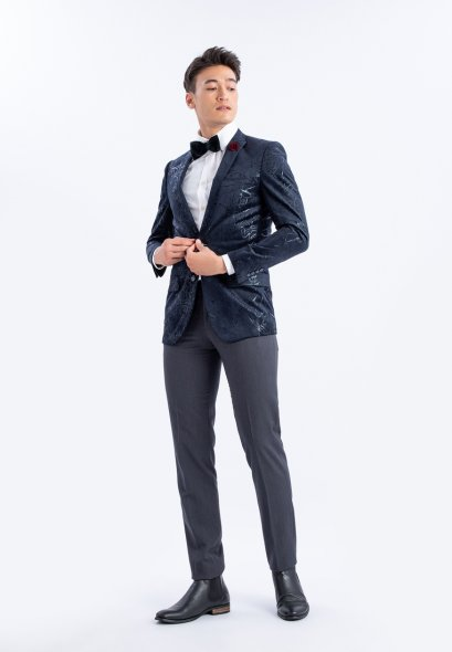 Mac & Gill Classic SLIMFIT Casual VELVET MARBLE PATTERN Suit