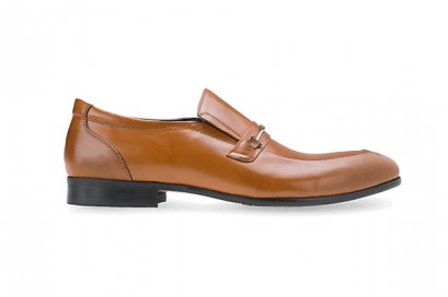 Brown Leather Split Toe Loafers