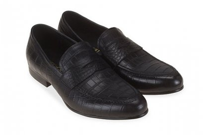 Slip On Oxford CROC PENNY Leather LOAFER MAC and GILL