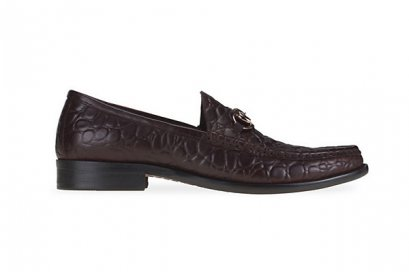 Horsebit Leather Loafers - Dark Brown