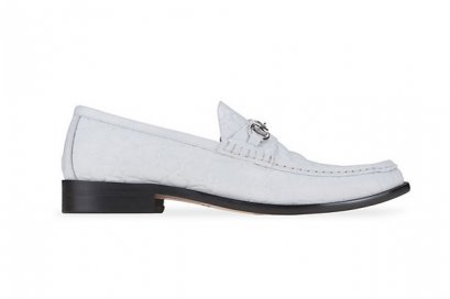 Horsebit Leather Loafers - White