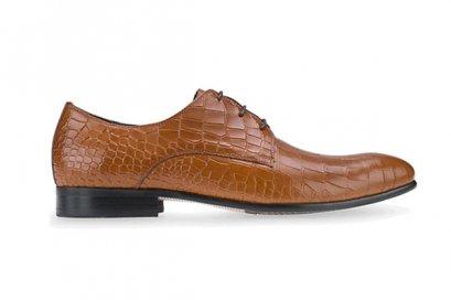 Croc Derby Dress Shoes - Brown