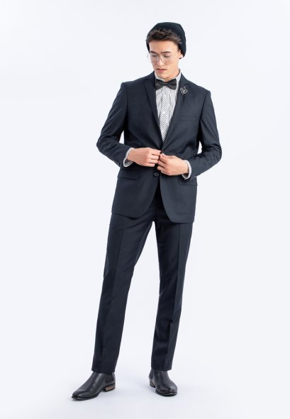 SLIM FIT Mac & Gill Royal NAVY Classic Suit And Trousers Set