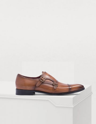 LEATHER DOUBLE BUCKLE SHOES
