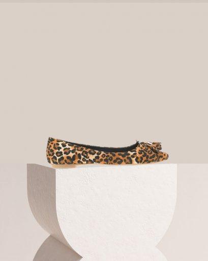 รองเท้าบัลเล่ต์ พิมพ์เสือดาว