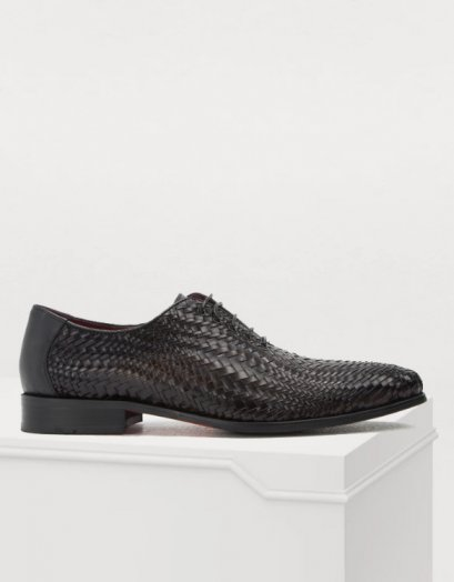 MAHLER WOVEN LEATHER LACE UP FORMAL SHOES