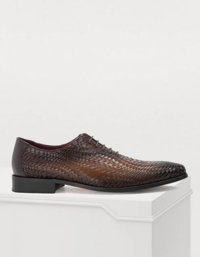 MAHLER WOVEN LEATHER LACE UP SHOES