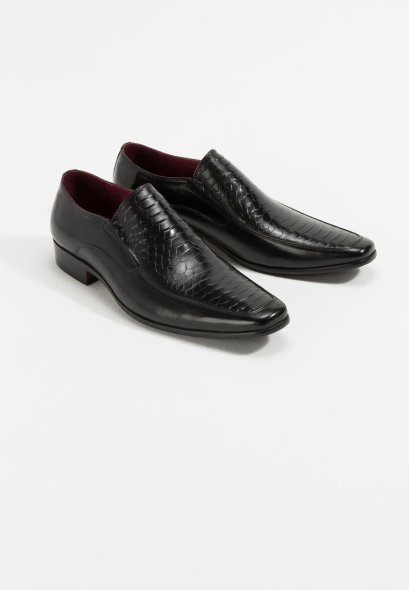 รองเท้าแบบสวมทางการหนังแท้ Samuel Embossed Calfskin
