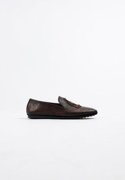 รองเท้าบูทผู้ชายหนังแท้แบบ Loafer Slip on Genuine Premium Leather Shoes